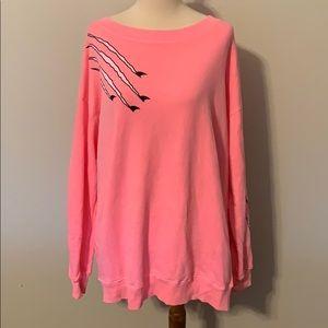 NWOT Wildfox pink sweater sz L